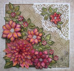 Heartfelt Creations Wednesday - Blooming Dahlia Card