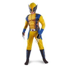 Classic X-Men Wolverine Muscle Child Costume - MEDIUM (7/8) Disguise. $50.00. From the Manufacturer                The Wolverine! A Marvel Comics Superhero and member of the X-Men.  Wolverine possesses animal-keen senses, enhanced physical capabilities, and a healing factor that allows him to recover from virtually any wound.  Now's your chance to set foot in this amazing muscle costume and feel what its like to wear the Wolverine suit.  This costume will have you lo...