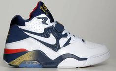 """Nike Air Force 180 """"Olympic""""   Charles Barkley non-signature re-release"""