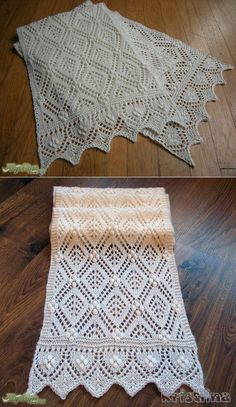 tejer para mi - Crochet Patterns and Design Ideas Lace Knitting Patterns, Knitting Stitches, Baby Knitting, Stitch Patterns, Knitted Shawls, Crochet Shawl, Knit Crochet, Hand Knit Scarf, Creation Couture