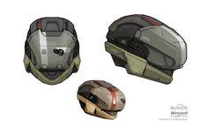 ArtStation - Halo: REACH multiplayer helmets , Isaac Hannaford