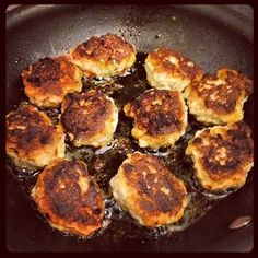 Frikadeller--Meatballs from Denmark (traditionally made with beef, but ...