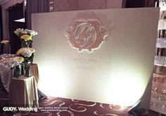 GUDY Wedding 婚禮設計 - Wedding Deco♥大直典華*簡約菱格香檳金婚禮佈置