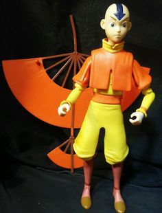 Ultimate Avatar Aang The Last Airbender 2006 RARE action Figure Lights & Sound  #Mattel