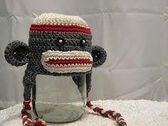 Knotty Knotty Crochet: Free Sock Monkey hat pattern!
