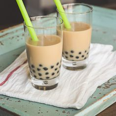 Yummy Chai Coconut Bubble Tea! I've always wondered what those little bubbles were!