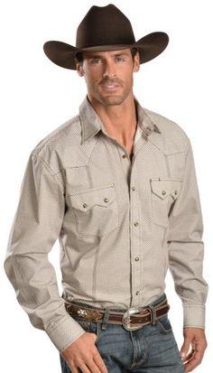 Red Ranch Asterisk Print Long Sleeve Western Shirt - Sheplers