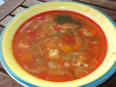 Ciorba taraneasca de vacuta Thai Red Curry, Salsa, Favorite Recipes, Cooking, Ethnic Recipes, Food, Kitchen, Essen, Salsa Music