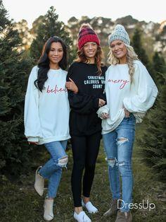 #christmas #chriatmassweaters #pullovers #casual #womens Winter Outfits, Casual Outfits, Cute Outfits, Trendy Hoodies, Cute Sweaters, Winter Wardrobe, Christmas Sweaters, Dress Up, Pajamas