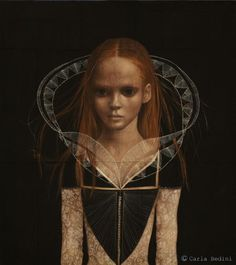 Carla Bedini. Cristina M., 2008. Mixed media on gauze, 90 x 80 cm.    http://www.carlabedini.it/