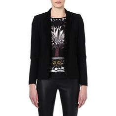 MAJE Enes fitted jacket (Black  Cute and cropped and not too stylised. Wear with shirt/tshirt/blouse underneath. Add a scarf for colour.