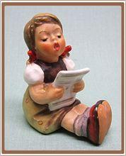 Goebel Hummel Figurine Little Girl Singing with Sheet Music