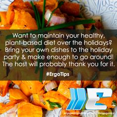 A simple tip to help you maintain your healthy diet at holiday parties! Healthy Living Tips, Plant Based Diet, Holiday Parties, Sweet Potato, Healthy Lifestyle, Nutrition, Dishes, Vegetables, Simple