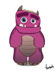 huggs - cute monster character design #cute #monster #characterdesign #illustration #animation #cutemonster