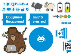 """Check out new work on my @Behance portfolio: """"CodeFest stickers"""" http://be.net/gallery/52011681/CodeFest-stickers"""