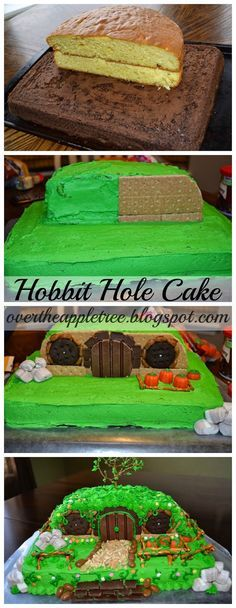 Hobbit Cake - This actually looks do-able!<----Hobbit Hole Cake: Very appropriate for Second Breakfast!