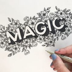 It's seriously magical how talented is! We interviewed her this week for and it really was a treat! Listen on SoundCloud or iTunes! Graffiti Lettering Fonts, Creative Lettering, Typography Letters, Lettering Design, Doodle Art Drawing, Doodle Art Name, Name Drawings, Mandala Art Lesson, Floral Drawing