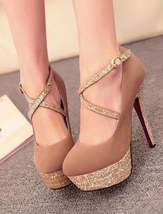Metallic High Heels, Strappy High Heels, Prom Heels, Sexy Heels, Glitter Heels, Gold Heels, Nude Heels, Sparkle Heels, Gold Sparkle