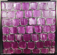 You are looking at one of a kind, original, acrylic, abstract painting. This one was painted in purple and silver, with a spatula tool to create texture. The edges of this painting have been painted Paintings, Painting Art, I Shop, My Arts, Fine Art, Abstract, Purple, Canvas, Amp