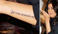 """Aut inveniam viam aut faciam""   Latin Text Tattoo On Left Arm"