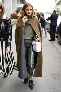 Olivia Palermo wearing Givenchy Rosanna Studded Chain Brogues and Fendi Iridia Cat-Eye Sunglasses