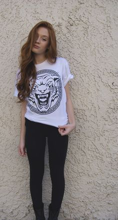 white graphic tee & black jeans   casual wear