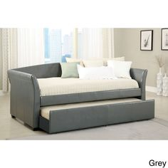 Furniture of America Hanover Contemporary Style Twin Daybed with Twin Trundle (