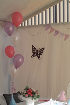 My daughter's first birthday - butterfly theme