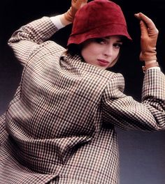 Dominique Issermann for Mademoiselle magazine, September 1984. Clothing by Perry Ellis.