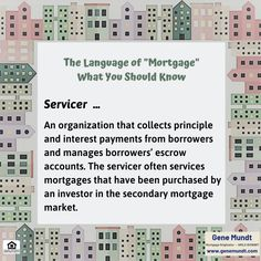"""When considering financing, it's important to know and understand the terminology that you will hear and use throughout your mortgage process. """"Servicer"""" is one such term ..."""