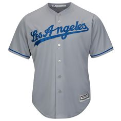 Show your support for the Dodgers with the Majestic Men s Dodgers Replica  Road Jersey. dc28801e04bec