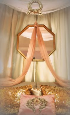 Of pink & gold....a Grecian theme dreamy bedroom.