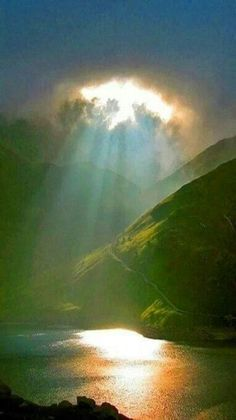 Moonshine Piercing Through Clouds - Snowdonia National Park, Northern Wales