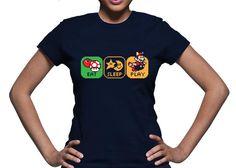 Playeras Gamer Geek: Playera Gamer Life Pixel 8Bits Mario Bros - Kichink!