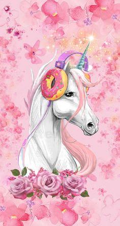 Wallpaper Iphone Cute, Cool Wallpaper, Iphone Wallpapers, Cute Wallpapers, Bad Pic, Cute Bunny Cartoon, Pretty Backgrounds, Pink Art, Cute Unicorn