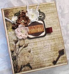 CCCC-Vintage-Handmade-Waterfall-Mini-Scrapbook-Album-Live-with-Purpose-SWAK