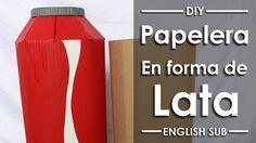 Papelera en forma de Lata - DIY - English Sub