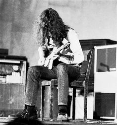 Jimmy Page on stage in Sweden 1970
