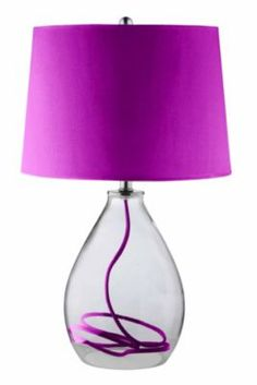 Add a burst of the #ColoroftheYear to your space with this #havertys Colorburst Table Lamp. #HavertysRefresh