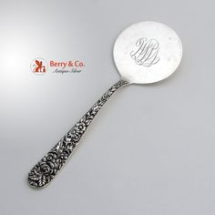Repousse Hot Cake Server S Kirk 925/1000 Sterling Silver 1900