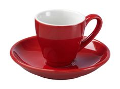 La Cafetire Parisienne Red Espresso Cup & Saucer - £4.95