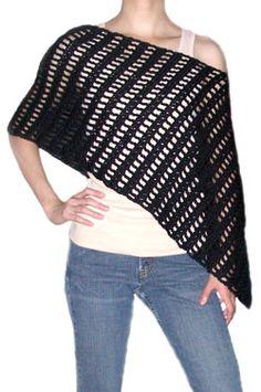 Crochet Spot » Blog Archive » Crochet Pattern: Striped Asymmetrical Poncho - Crochet Patterns, Tutorials and News