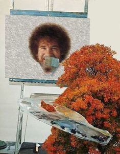 And finally, Bob Ross and a beautiful tree: | The 35 Most Disturbing Face Swaps Of All Time