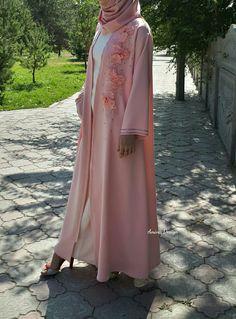 Soft pink abaya