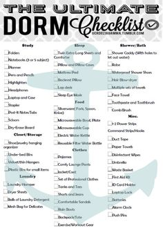The Ultimate College Dorm Checklist! Not just for UC Riverside this can be applicable to all schools! Oh my gosh this is so helpful for incoming college freshman I wish I had something like this tailored to my school dorms when I was a first year! College Dorm List, College Dorm Checklist, College Packing Lists, College Dorm Essentials, Packing Hacks, College Dorm Rooms, Room Essentials, College Life, Boston College