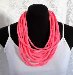 Hot Pink Choker Style Neck Wrap Neck Wrap, Stitch Design, Handmade Flowers, Women's Accessories, Hot Pink, Chokers, Beaded Necklace, How To Wear, Jewelry
