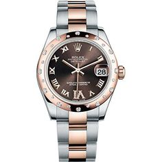 ROLEX DATEJUST 31MM STEEL AND ROSE GOLD WATCH WITH 24 DIAMONDS BEZEL CHOCOLATE DIAMOND DIAL UNWORN 178341 https://www.carrywatches.com/product/rolex-datejust-31mm-steel-and-rose-gold-watch-with-24-diamonds-bezel-chocolate-diamond-dial-unworn-178341/ ROLEX DATEJUST 31MM STEEL AND ROSE GOLD WATCH WITH 24 DIAMONDS BEZEL CHOCOLATE DIAMOND DIAL UNWORN 178341 #rolexladieswatches