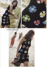 Resultado de imagem para vestidos de croche coloridos