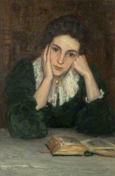 The Artist's Wife (Susan Gillis, d.1941) c.1910 by Stewart Carmichael (1867-1950)