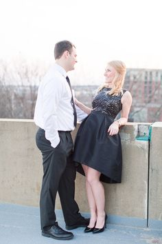 Downtown Richmond VA engagement session Richmond VA Wedding Photographers Rent the Runway engagement session dress  @shalesedanielle